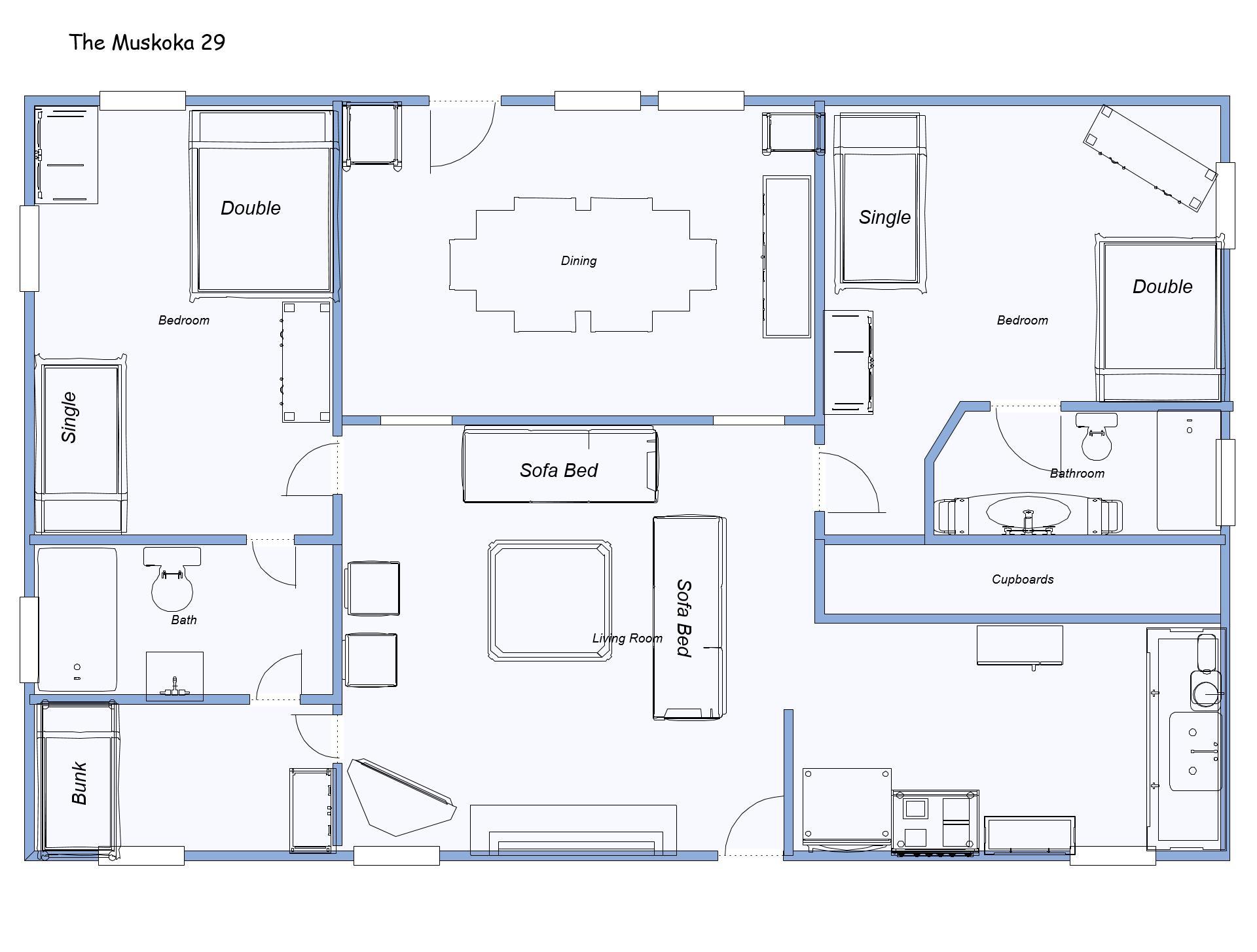 Muskoka 29 beds labeled